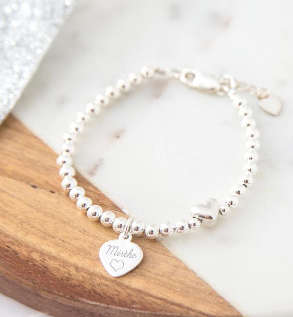 Sieraden graveren Silver bracelet 'Cute Balls' - Copy - Copy - Copy