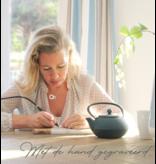 Sieraden graveren Zilveren ketting 'In My Heart' met parel en gravure