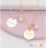 KAYA sieraden Silver Necklace 'Handwriting' heart 12 x 12 mm - Copy