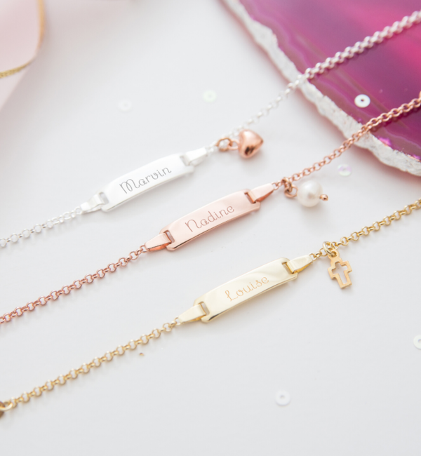 KAYA sieraden Personalized Bracelet 'Classic Bar' + charm of your choice - Copy