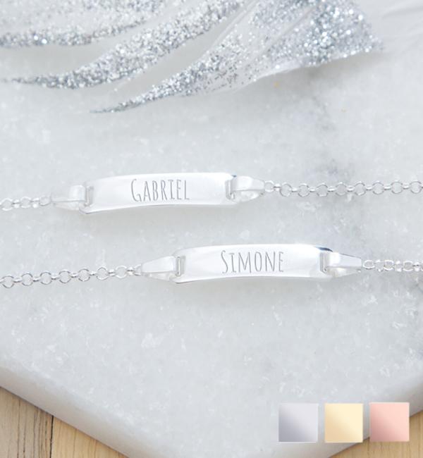 Sieraden graveren Silver graveerarmbandje 'Cute' - Copy