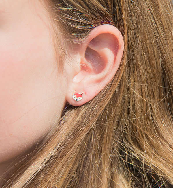 KAYA sieraden Silver earrings 'foxes'