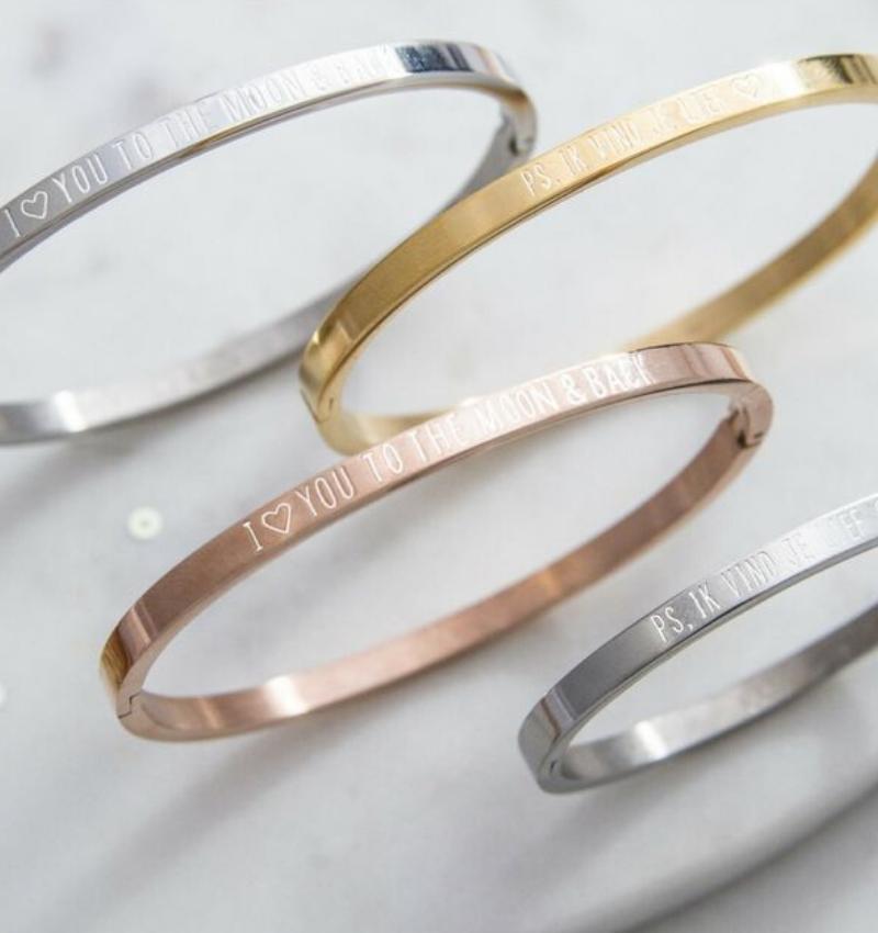 KAYA sieraden Personalized bracelet - stainless steel - Copy - Copy - Copy - Copy