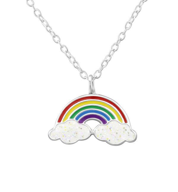 KAYA sieraden Zilveren Kinderketting 'Rainbow'