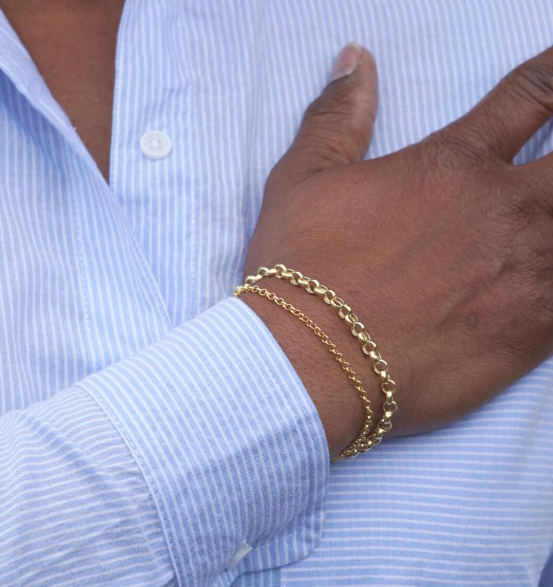 KAYA sieraden Zilveren Jasseron Armband 'Medaillon Ovaal' met Gravure