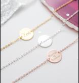 KAYA sieraden Zilveren Set Armbanden 'Elegant Disc'