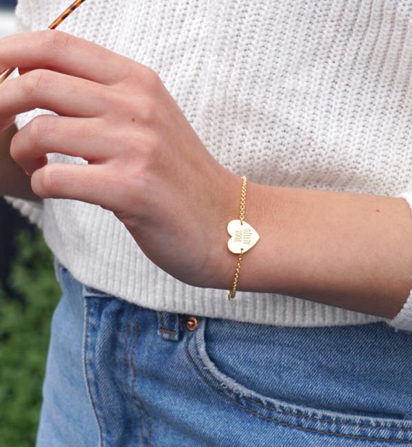 KAYA sieraden Gepersonaliseerde Zilveren Armband 'Sweetheart' met Gravure