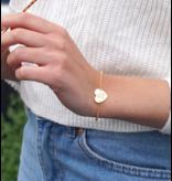 KAYA sieraden Twee zilveren armband 'Sweetheart' met gravure