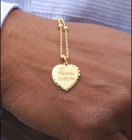 KAYA sieraden Ketting 'Textured Heart'