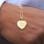 KAYA sieraden Gepersonaliseerde Vergulde Ketting 'Vintage Heart' met Gravure