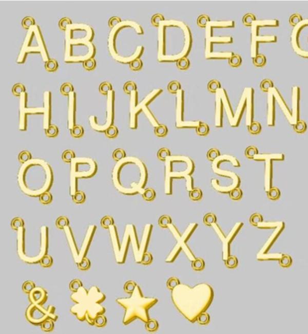 Gegraveerde sieraden Letterketting 'Schuinhangend'
