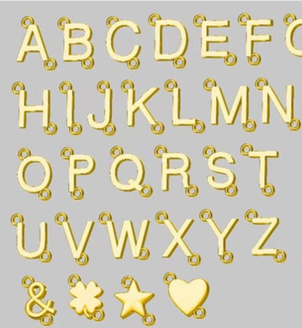 Sieraden graveren Letterketting 'Schuinhangend'