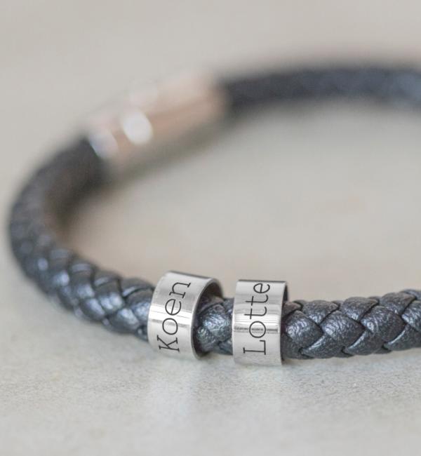 KAYA sieraden Personalized bracelet - stainless steel
