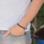KAYA sieraden Zwarte Rundleren Armband met 1 naambedel