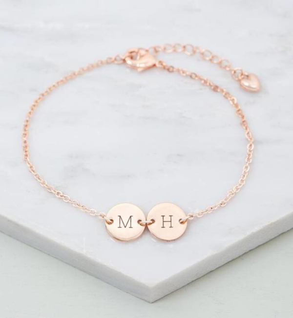 Sieraden graveren Zilveren Armband met Letters 'Initiaal'