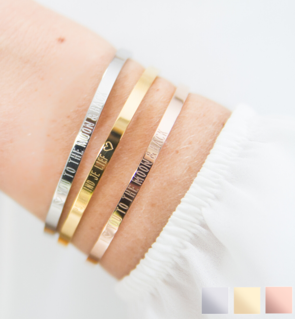 KAYA sieraden Bangle SET 'I' you to the moon & back '(2 pieces) - Copy