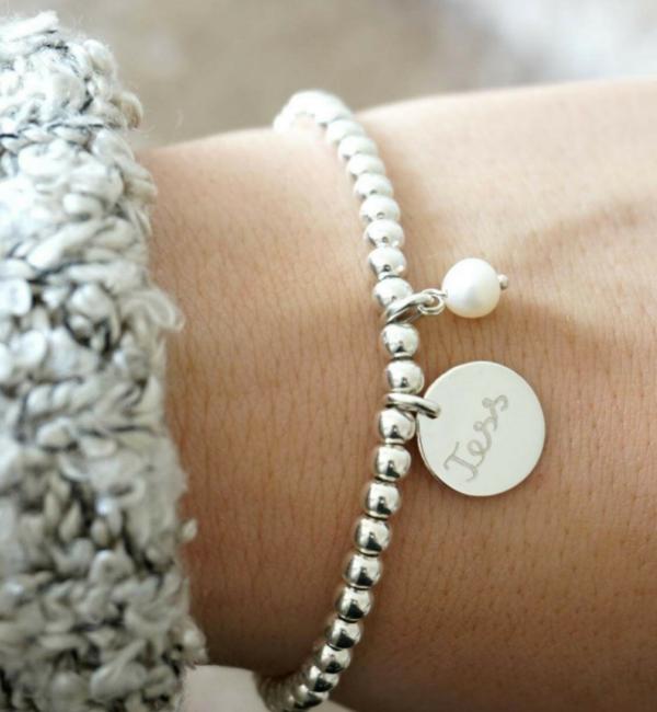 KAYA sieraden Armband Cute Balls met Parel - kies je kleur