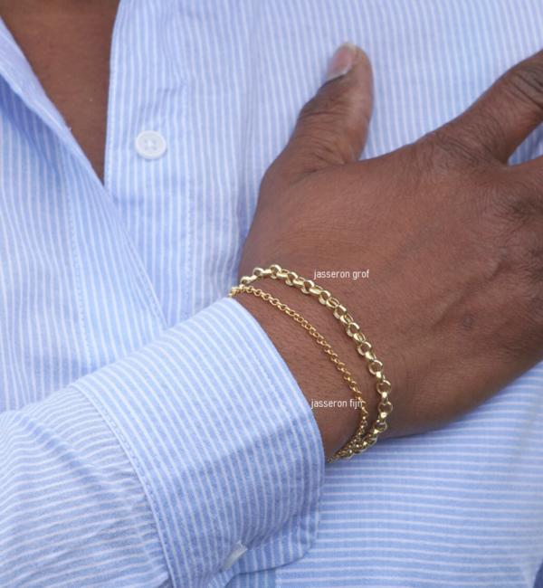 KAYA sieraden Silver Chain Bracelet 'Customise' - Copy