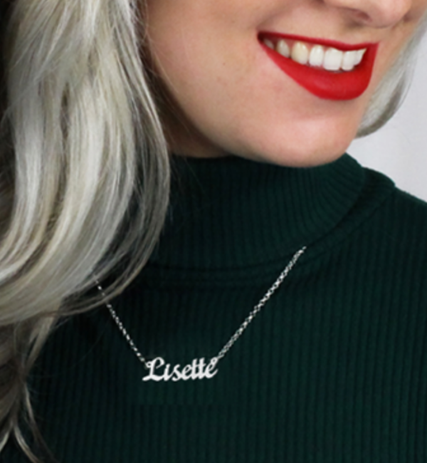 Sieraden Name necklace 'Names' Lisette
