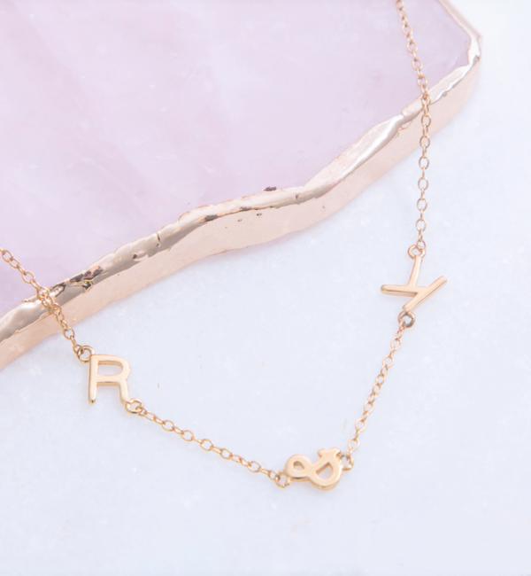 Sieraden graveren Necklace Inline Letters - Copy