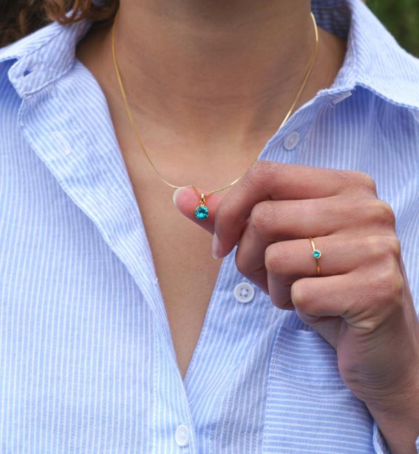 KAYA sieraden Swarovski® Charm Birth Crystal - Copy - Copy