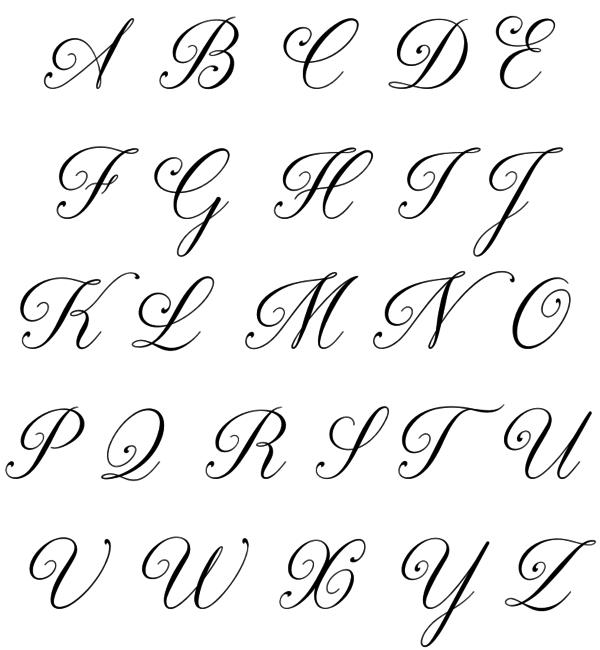 Sieraden graveren Letter Ketting 'Sierlijke Inititaal'