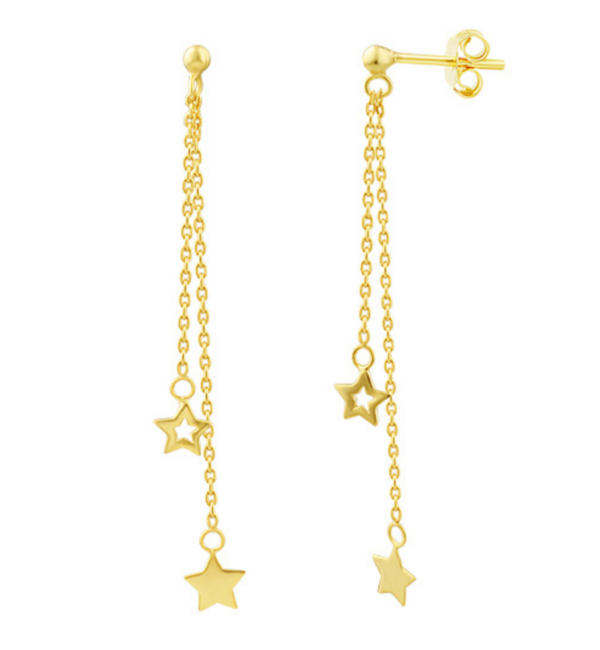 KAYA sieraden Oorbellen Starry Night I Gold Plated