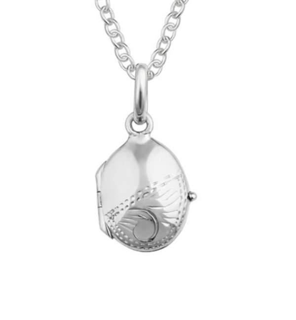 """KAYA sieraden Silver necklace 'Medaillong """"engraved - Copy - Copy - Copy - Copy - Copy - Copy - Copy"""