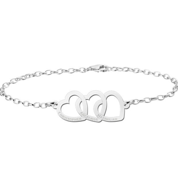 Sieraden Necklace with the name 'Zirconia' and heart - Copy - Copy