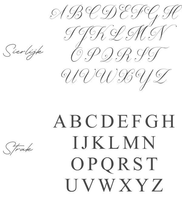 Sieraden graveren Zilveren Damesring 'Elegant Disc' met Letter