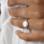 Sieraden graveren Zilveren Ring 'Initialen'