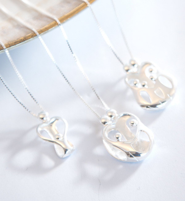 "KAYA sieraden Silver Necklace ""The Love Between Mother & Daughter .. '- Copy - Copy - Copy - Copy - Copy - Copy"