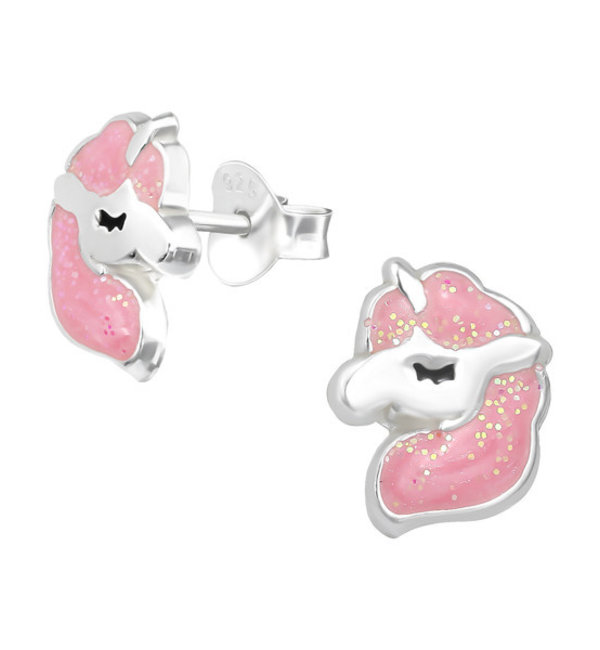 KAYA sieraden Silver children's earrings 'White flowers with pink' - Copy - Copy - Copy - Copy - Copy