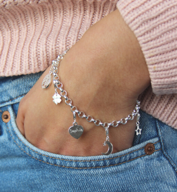 Sieraden graveren Silver Chain Bracelet ★ ★ additional personal - Copy