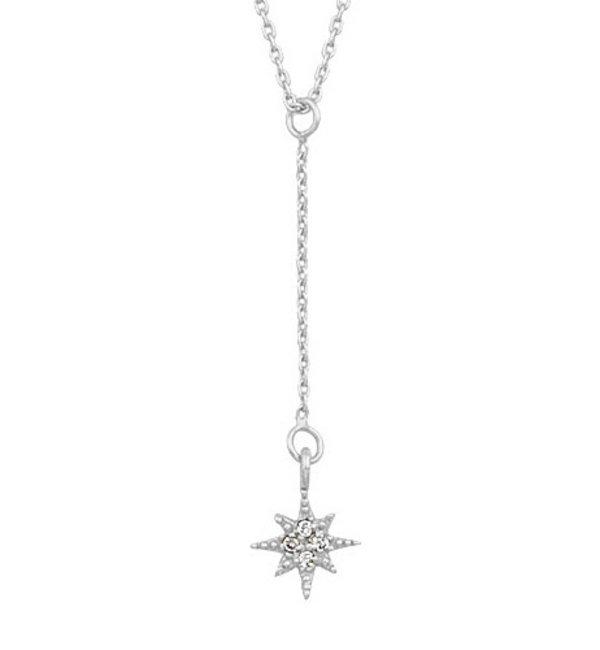 KAYA sieraden Zilveren Ketting 'North Star'