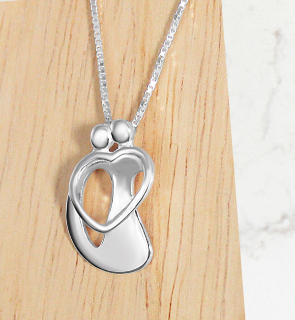 "KAYA sieraden Silver Necklace ""The Love Between Mother & Daughter .. '- Copy - Copy - Copy - Copy - Copy - Copy"