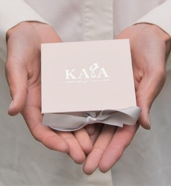 KAYA sieraden Ketting '5 Little Discs' met Initialen | Gold Plated