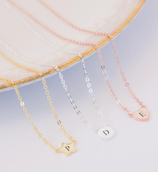 Sieraden graveren Silver Necklace '' Disc & Swarovki® Birthstone ' - Copy - Copy - Copy