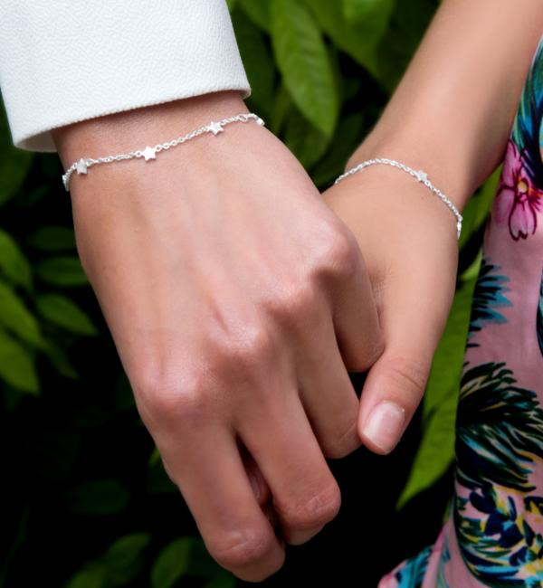 KAYA sieraden Drie Generatie Set Armbanden 'Twinkle Star'