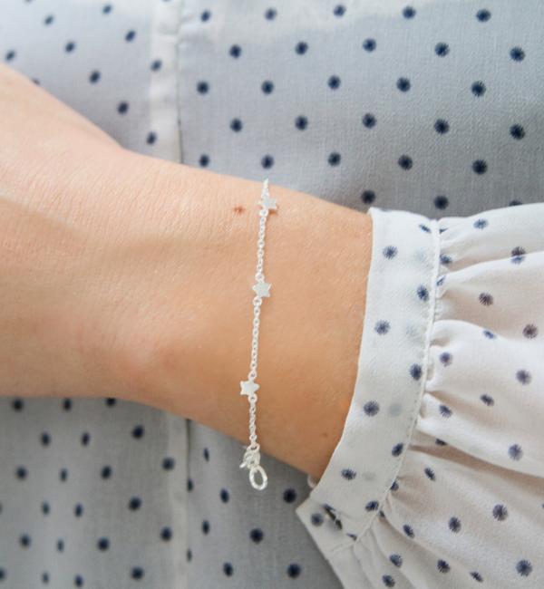 KAYA sieraden Zilveren Moeder Dochter Armbanden Set 'Twinkle Star'