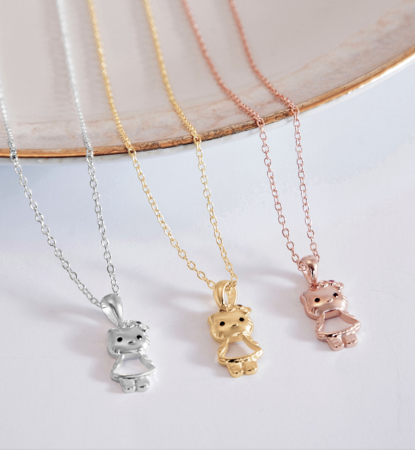 KAYA sieraden Zilveren Ketting 'Hello Kitty'