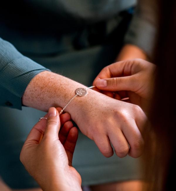 Sieraden graveren Armband 'Elegant Disc' met Gravure
