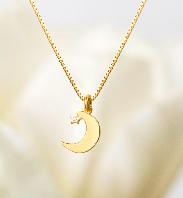 KAYA sieraden Silver necklace 'I love you to the Moon & Back'