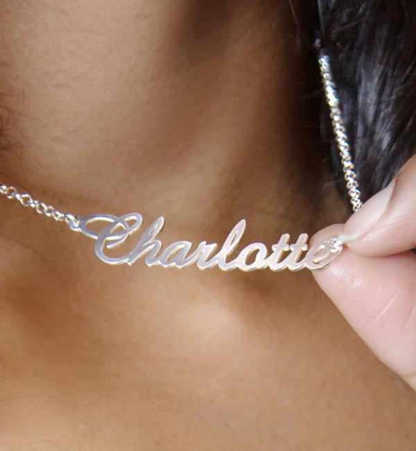 Sieraden Zilveren Ketting met Naam 'Elegant'
