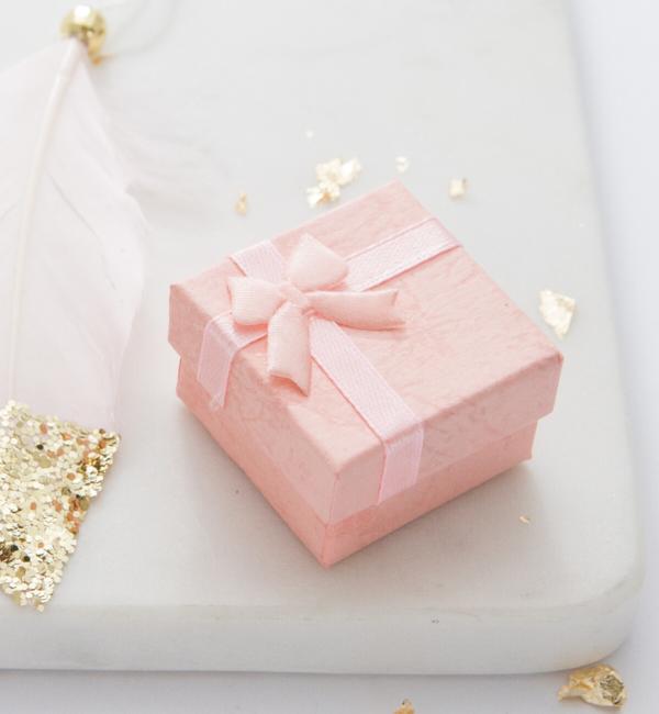 KAYA sieraden Zilveren kinderoorbellen 'Crystal Flower' Roze