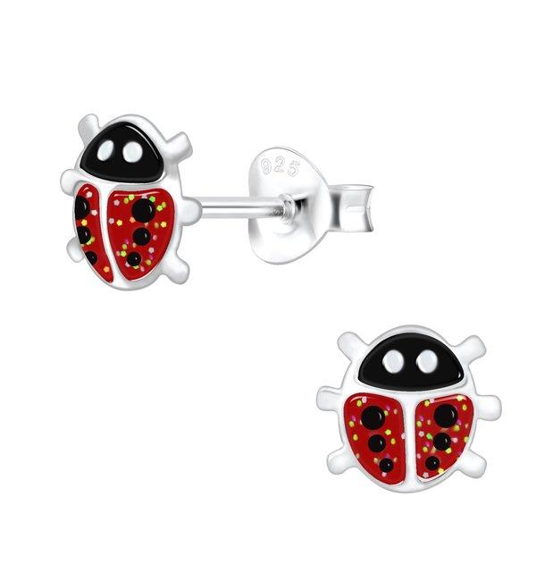 KAYA sieraden Silver childrens earrings 'Ladybugs'
