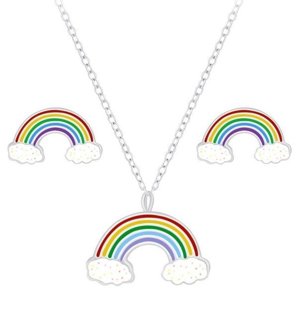 KAYA sieraden Kindersieraden Setje 'Regenboog'