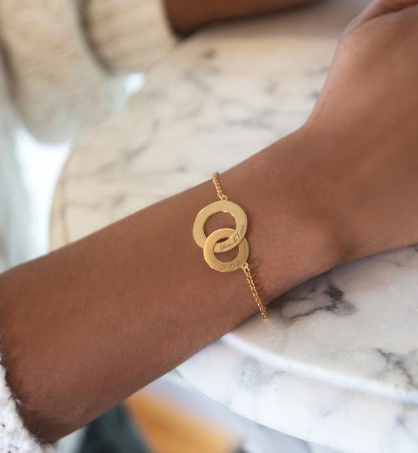 KAYA sieraden Personalized bracelet 'Entwined'