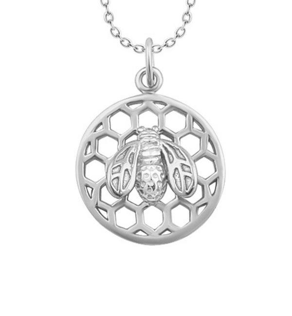 KAYA sieraden Zilveren Ketting 'Honey Bee'