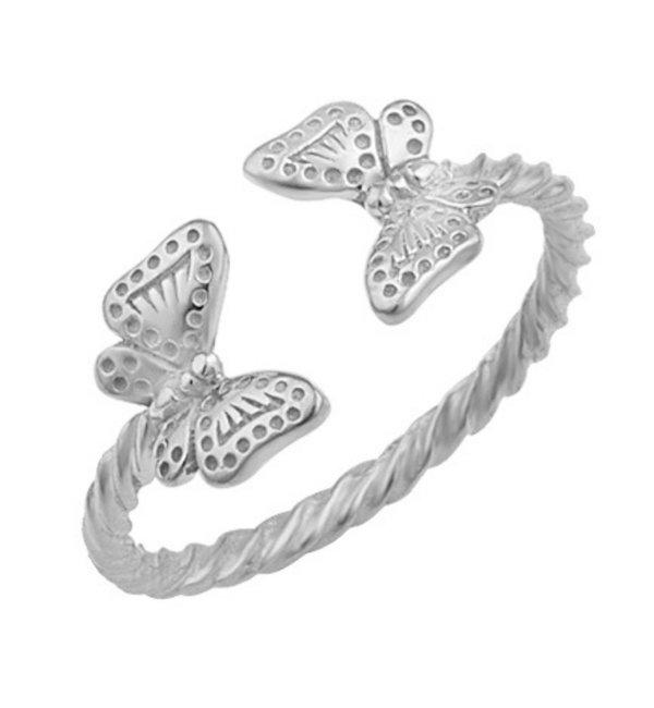 KAYA sieraden Zilveren Ring 'Butterflies'
